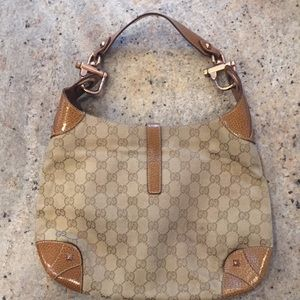Gucci Bags - Gucci Monogrammed Canvas Hobo Bag